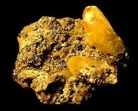 Yellow Calcite with Pyrite Missouri