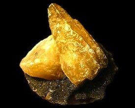 Calcite on Marcasite