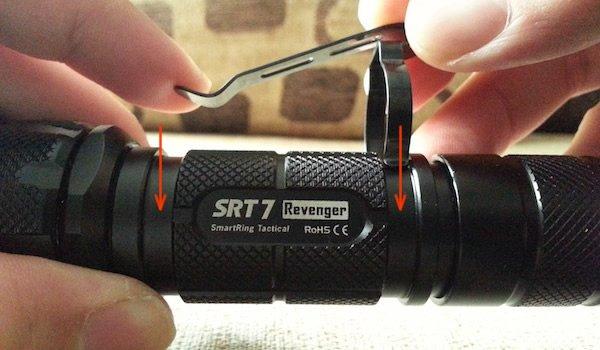 Nitecore SRT7 clip