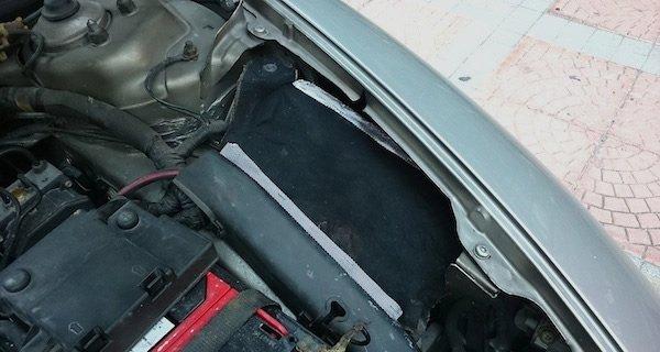 air intake heat shield