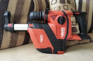 Hilti rotary hammer with vacuum