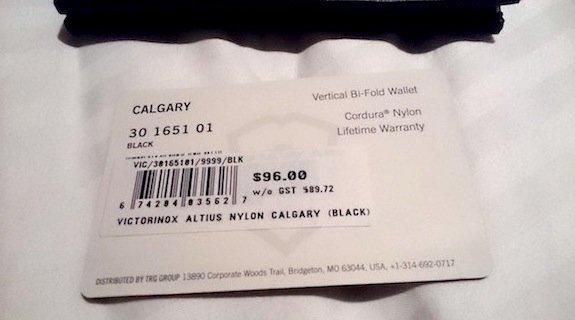victorinox altius nylon calgary wallet