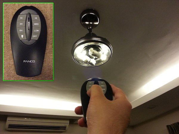 Removing remote control ceiling fan turn
