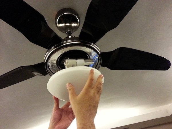 How to Install a Ceiling Fan with Light | devonbuy.com:Completing the Overall Ceiling Fan Installation,Lighting