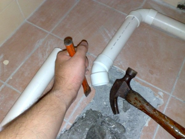 connecting drain pipes