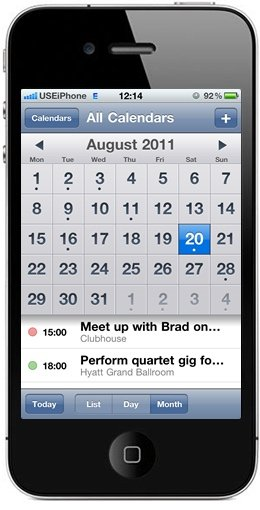 calendar app iphone