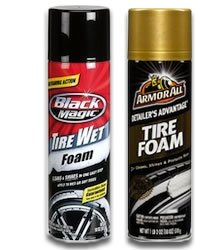 Black Magic Tire Wet and Armor All Tire Foam