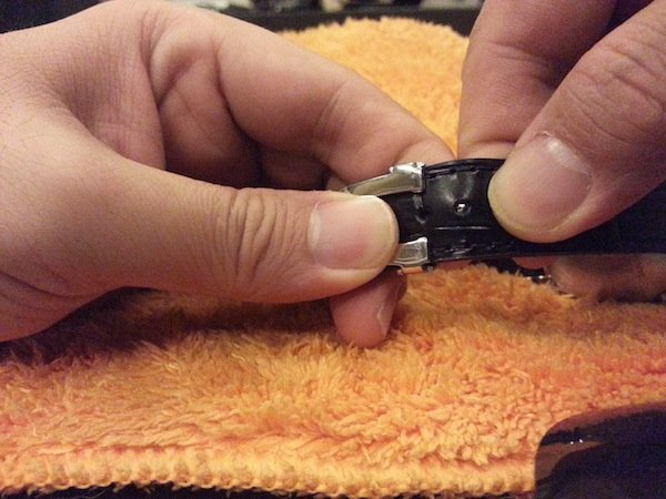 replace watch leather strap