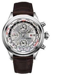 Ball Trainmaster Worldtime Chronograph silver dial