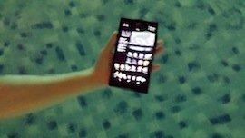 Sony Xperia in the water