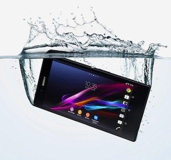Sony Xperia Z Ultra underwater