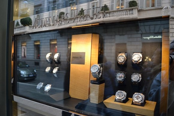 Audemars Piguet boutique in Milan, Italy