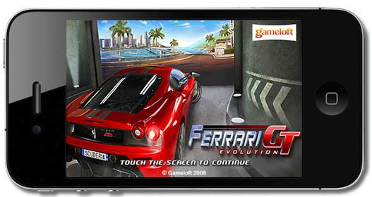 car racing game on iOS