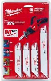 Milwaukee Hackzall blade set