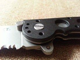 CRKT M16-12Z Tanto tsuba finger guard