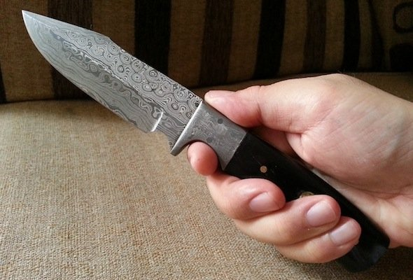 damascus fixed blade