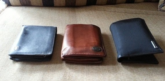 leather and nylon wallets
