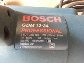 Bosch GDM 12-34 marble saw