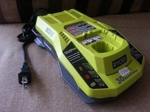 modified Ryobi One+ P117 18V IntelliPort Dual Chemistry Charger 220V