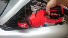 Milwaukee M12 Compact Vacuum car wash