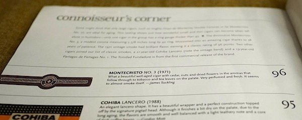 cigar aficionado montecristo no.3 rating