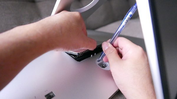 opening iMac