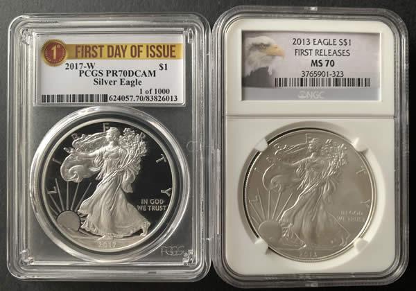 american silver eagle PCGS vs NGC