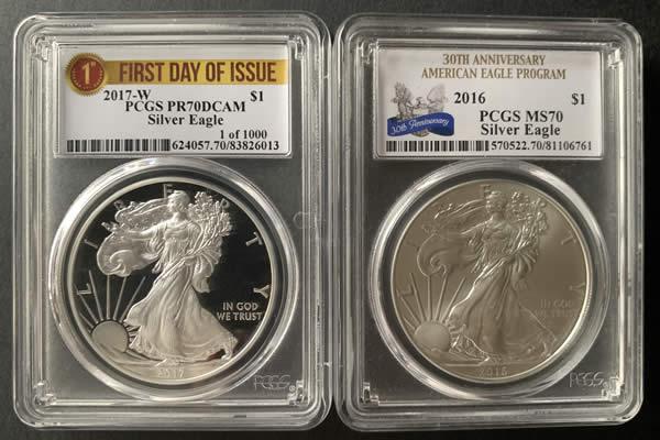 PCGS american silver eagles