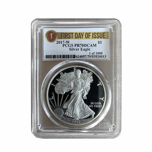 2017-W American Silver Eagle PR70DCAM