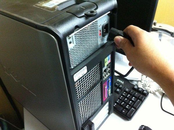 unplug computer