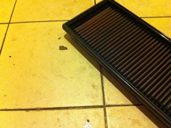 wash air filter