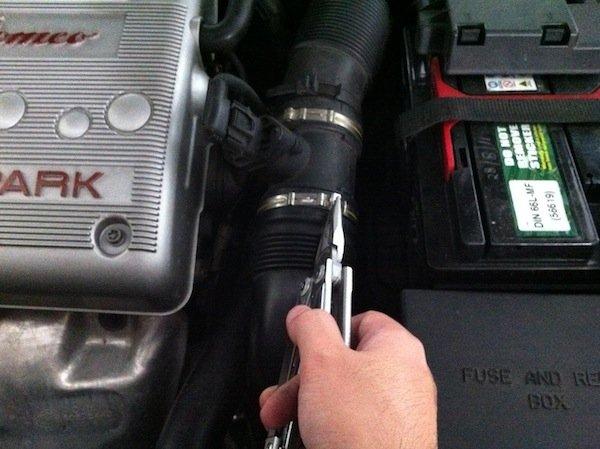 install k&n air filter