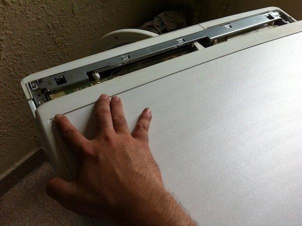 fixing a detached washing machine drum