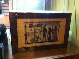 Humidors are very expensive items - this one with Egyptian motif costs RM18,000.