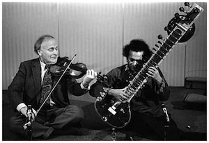 violin and sitar player